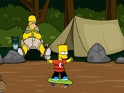 Play Bart skates in the woods