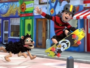 Play Dennis and Gnasher Skate Blam